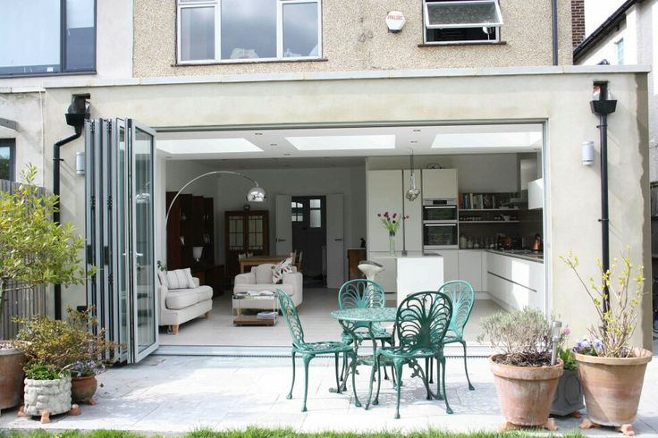 kitchen extension flat roof veranda uitbouw pinterest. Black Bedroom Furniture Sets. Home Design Ideas