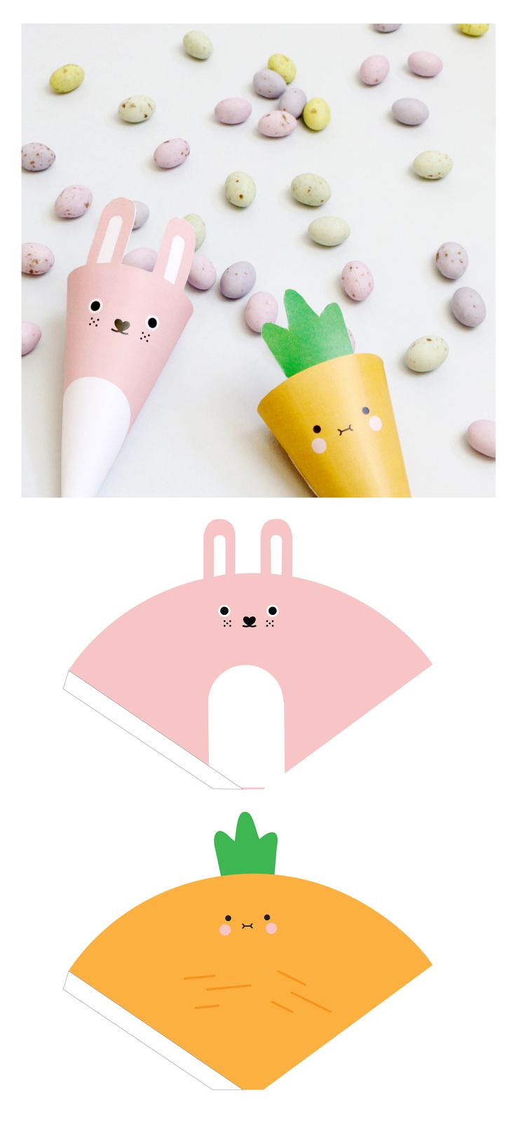 Get ready for Easter with some fun Noodoll DIY projects! Download the templates bellow to make some cute gift boxes and character cones, which are perfect for holding all the little treats you find on your easter egg hunt!
