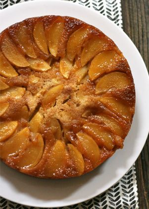 Apple Upside-Down Cake. Get the recipe via @PureWow via @PureWow