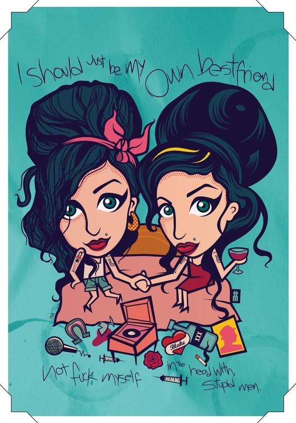 Amy Winehouse by Da Morgue, via Behance