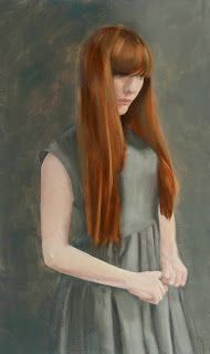 The Teenager, oil painting by Jane Gardiner - http://glasgowpainter.blogspot.co.uk/2014/08/superwoman-and-teenager.html