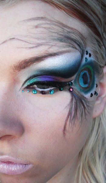 if it was normal for people to wear this much crazy eye make up on a regular day i would wear it like this
