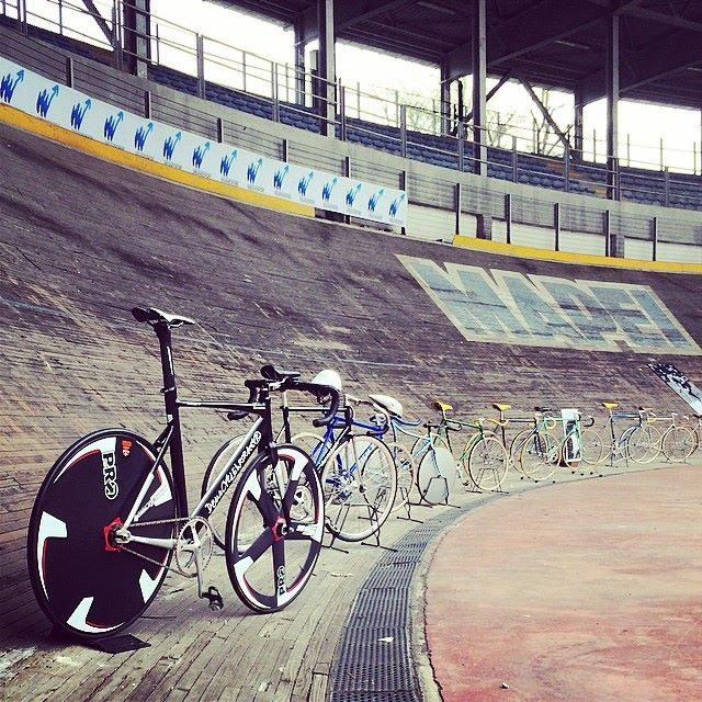 "The famous ""Velodromo, Vigorelli"" or Vigorelli Velodrome, in Italy."