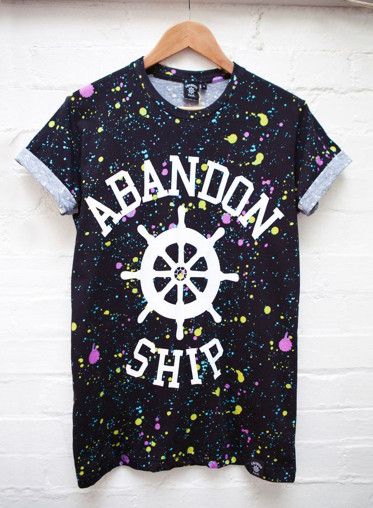 Abandon Ship Apparel Splatter Wheel Tee