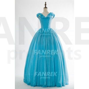 If you have seen Disney's live action Cinderella in cinema, you can't forget Ella's magical blue ball gown.That's why we decide to make the Cinderella Princess Dress everyone would love.           It isn't just a common style in the picture below,Our designers think: If the skirt is too big, the wearer will be very difficult to walk.So they designed this set of unique Cinderella Dress.You can wear it to go to the ball and wear it in everyday life,you will become the focus of people's eyes