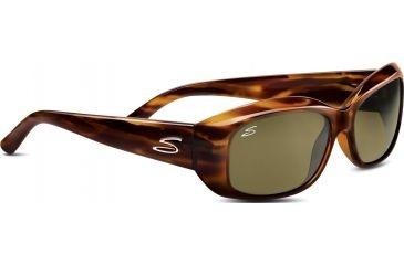 Serengeti Bianca Sunglasses, Dark Stripe Tort Frame