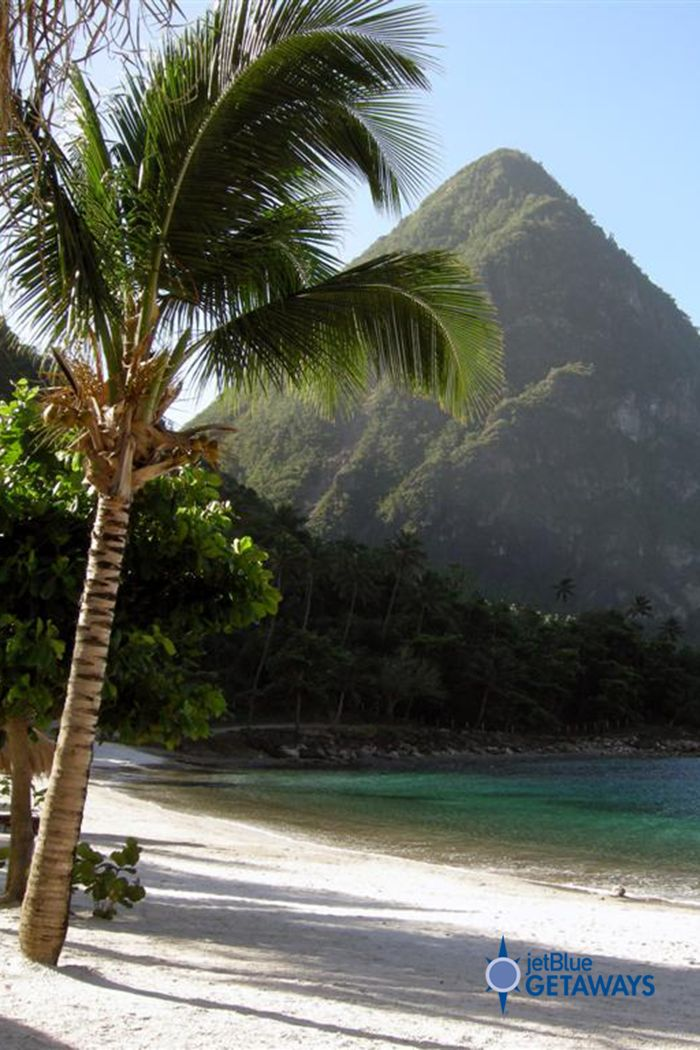 Enjoy A Day At Jalousie Beach St Lucia And Take In The Breathtaking Views Of S Famous Pitons Brought To You By Jetblu