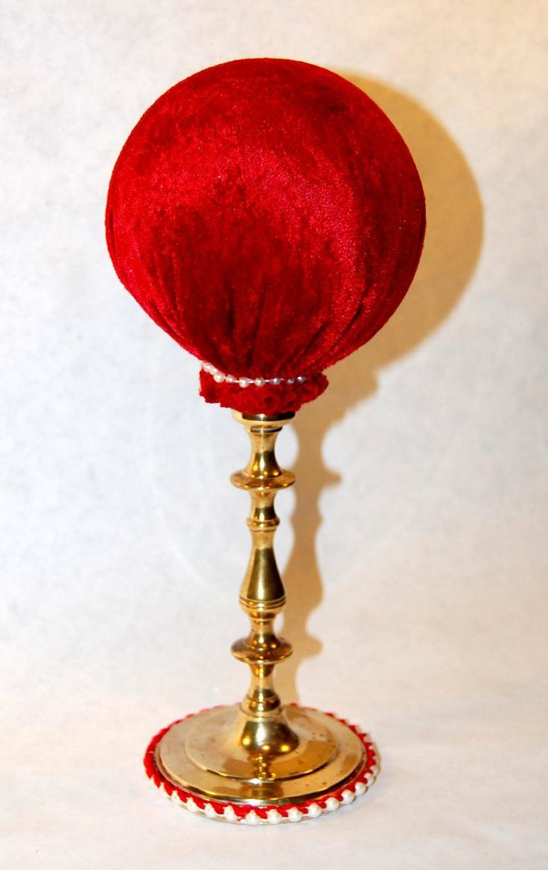 Red Velvet Hat Stand. $25.00, via Etsy.