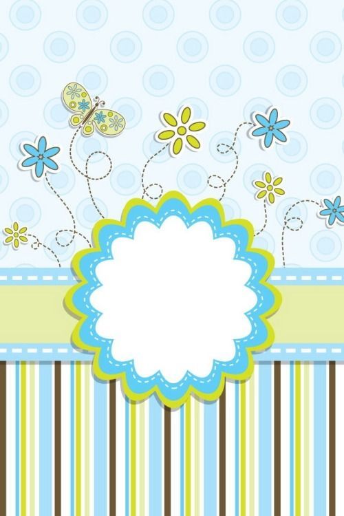 ♥ Scrapylicious Cute Floral Blue Wallpaper.