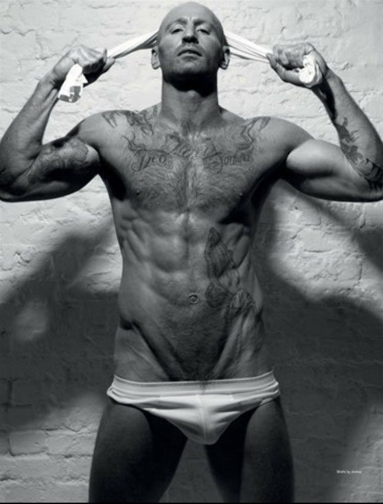 Gareth Thomas On Cover Of Attitude's Naked Issue  #rugby #GayAthletes #GarethThomas #AttitudeMagazine