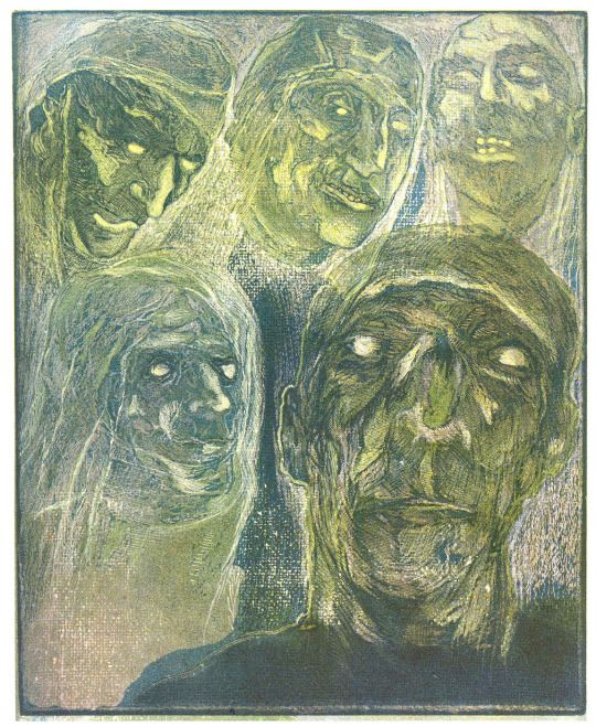 Josef Váchal, Úsměvy mrtvých (Smiles of the dead), 1934