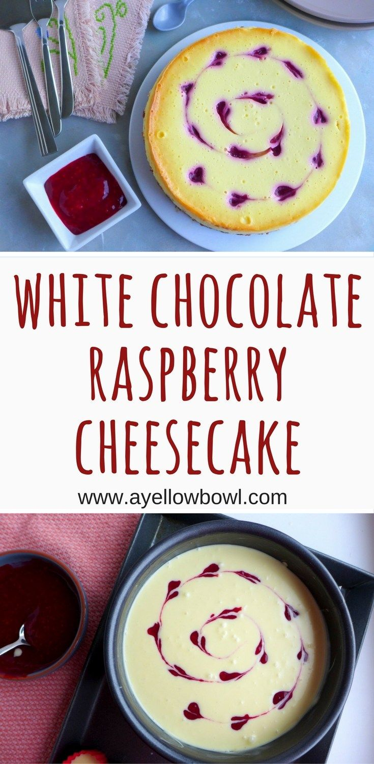 White Chocolate Raspberry Cheesecake Recipe is the perfect dessert to make for Valentine's Day and any other special occasion. #cheesecake #valentinesday