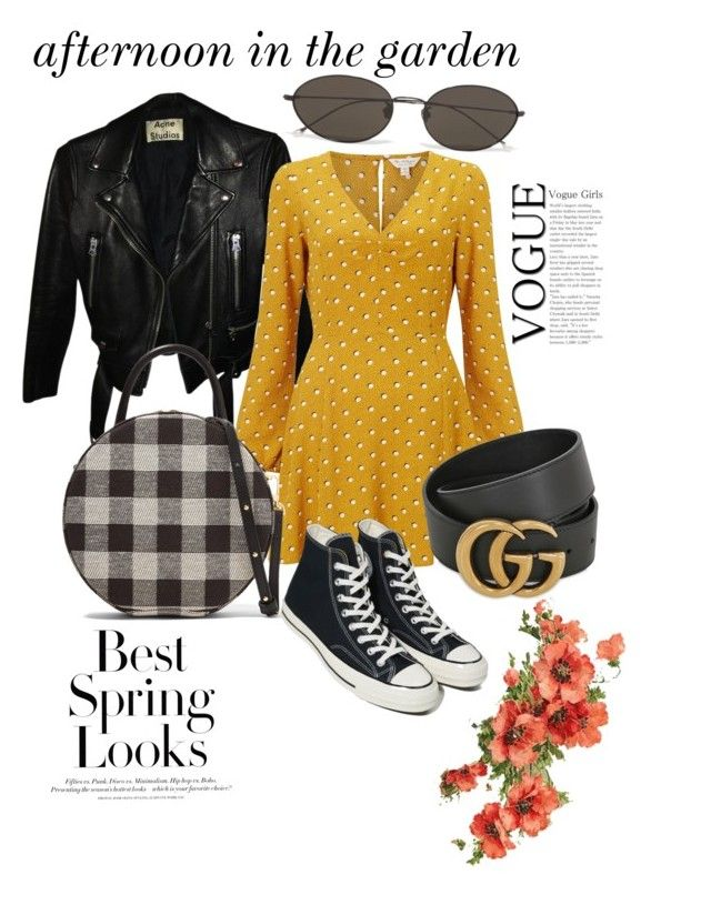 """""""🍃🌿🐾"""" by larisamarin on Polyvore featuring Acne Studios, Miss Selfridge, Mansur Gavriel, Converse, Ann Demeulemeester, H&M and Gucci"""