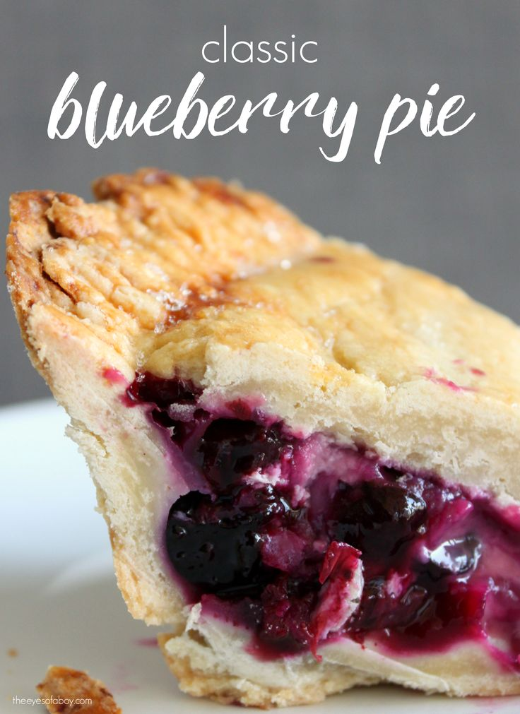 Blueberry pie recipe made with fresh blueberries. This pie is perfection right out of the oven - delicious, tasty, and the perfect dessert...