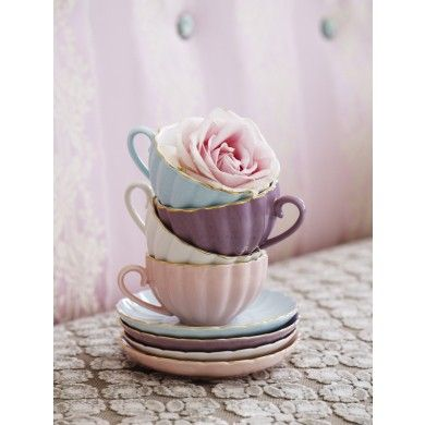 Belle Teacups and Saucers