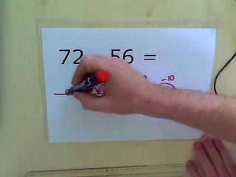 Instructiefilmpje - aftrekken met getallenlijn