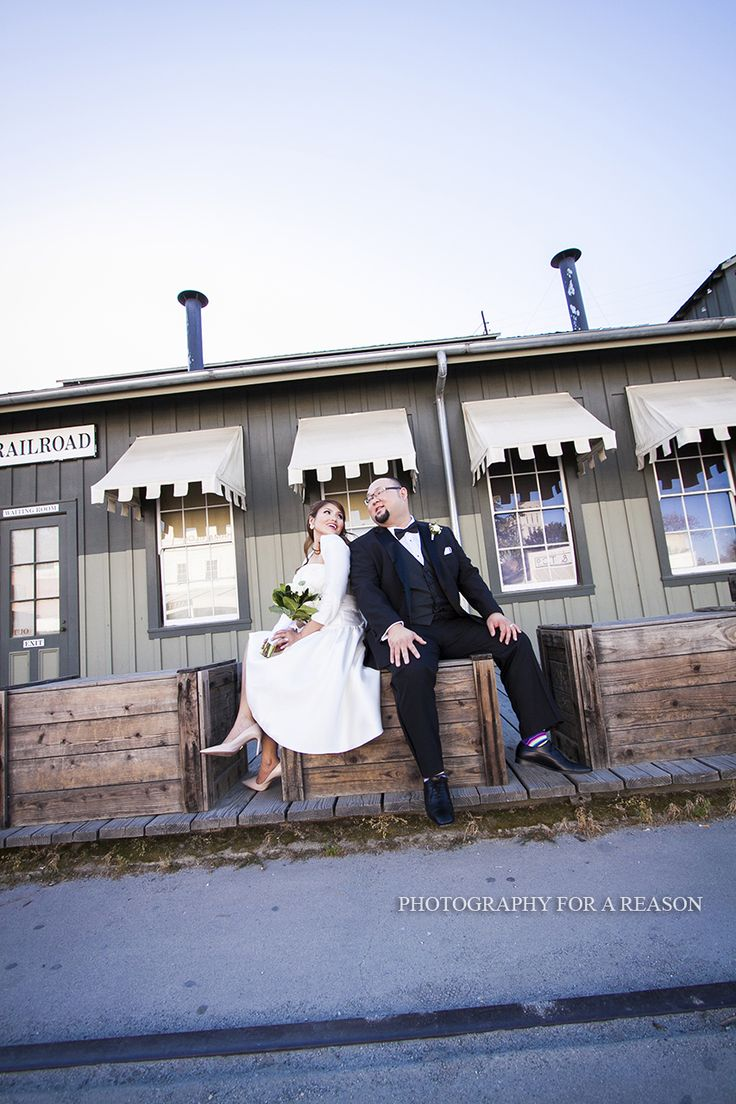 wedding receptions sacramento ca%0A Bride and Groom in Old Sacramento California  The Firehouse Restaurant Wedding  Venue  Photo by