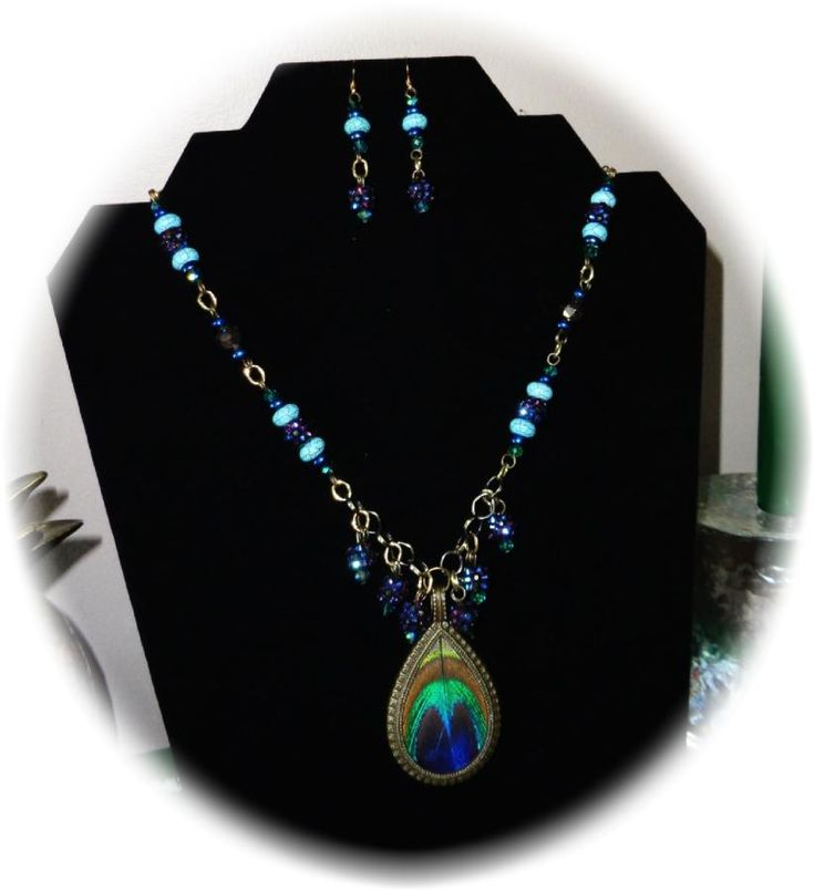 PEACOCK PASSION - Jewelry creation by Angel On A Harley Gifts and Graphics