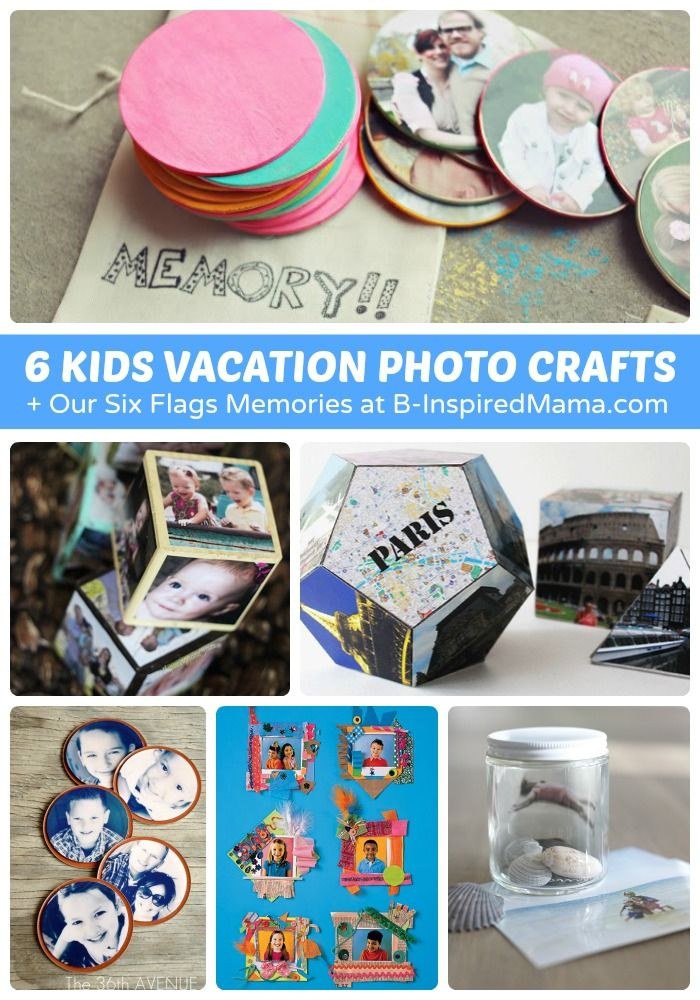 6 Vacation Photo Crafts for Kids + Our Six Flags Fun - #sponsored #wildforwetones #kidscrafts #kids #kbn #binspiredmama