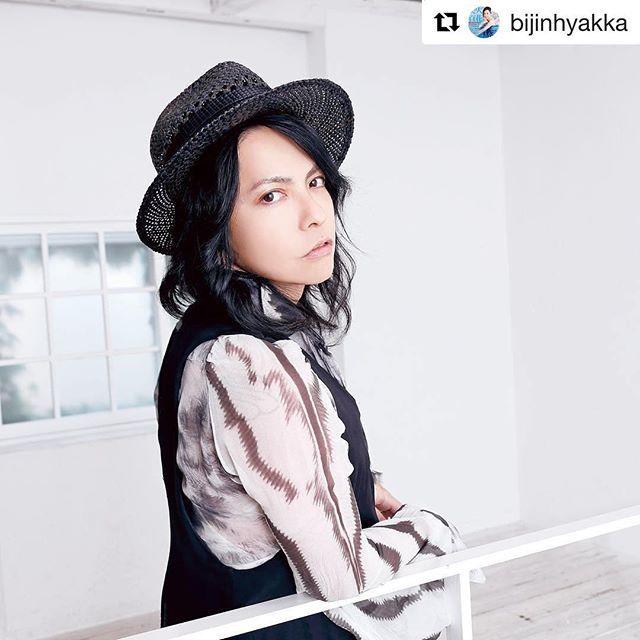 #Repost @bijinhyakka with @repostapp ・・・ 9月号の「美男ですね❤︎」には、なんとあの超ビッグアーティスト、HYDEさんが初登場‼️ 8月31日にリリースされる新曲についてなど音楽の話はもちろん、プライベートもたっぷり語ってくれましたよ♪ 撮影/田中和子(CAPS)  #美人百花 #HYDE #VAMPS #インタビュー