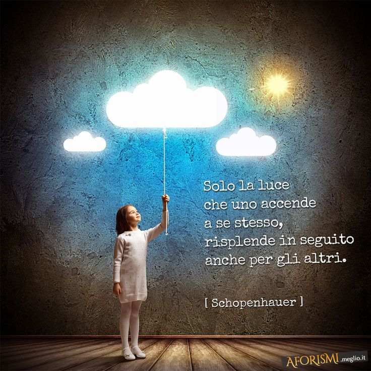 Arthur Schopenhauer • Solo la luce che uno accende a se stesso, risplende in seguito anche per gli altri.