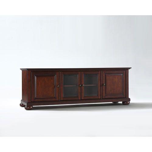 Alexandria 60 Inch Low Profile Tv Stand In Vintage Mahogany Finish Crosley Furniture Tv Ca