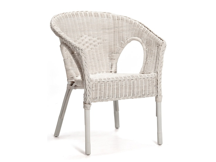 Ruzi Wicker Chair White 500
