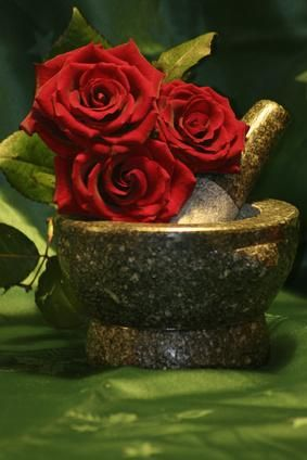 Make your own Rose Oil at home-Rose oil absorbs beyond the skin barrier and causes an anti-anxiety affect. Rose oil causes a significant decrease in blood pressure and breathing rate, and it also relieves anxiety, stress and may act as an anti-depressant.