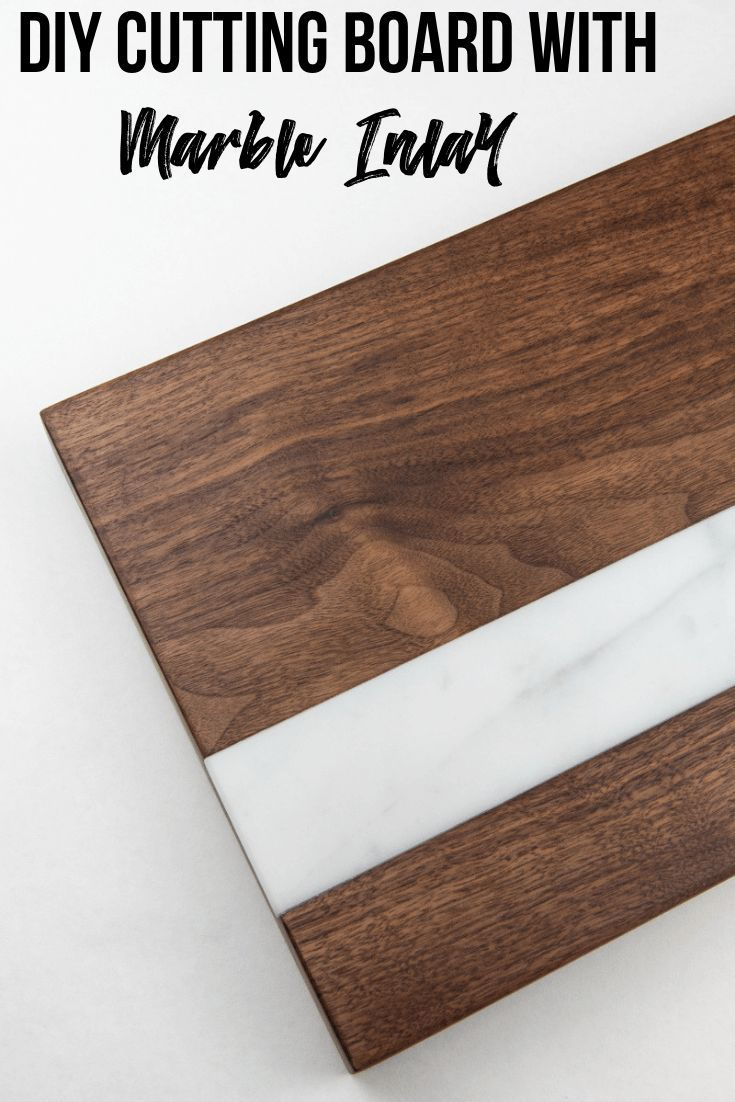 DIY Woodworking Ideas This DIY cutting board with marble inlay is just gorgeous! I'll show you how to ...