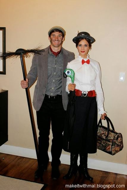 Love the detailed instructions on how to make the umbrella and chimney sweep broom.  MAKE IT! with mal: DIY:: Disney Costumes {Mary Poppins and Bert}