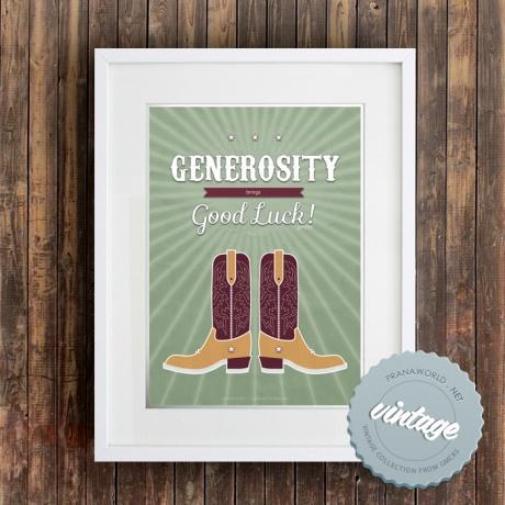 Generosity (downloadable poster)