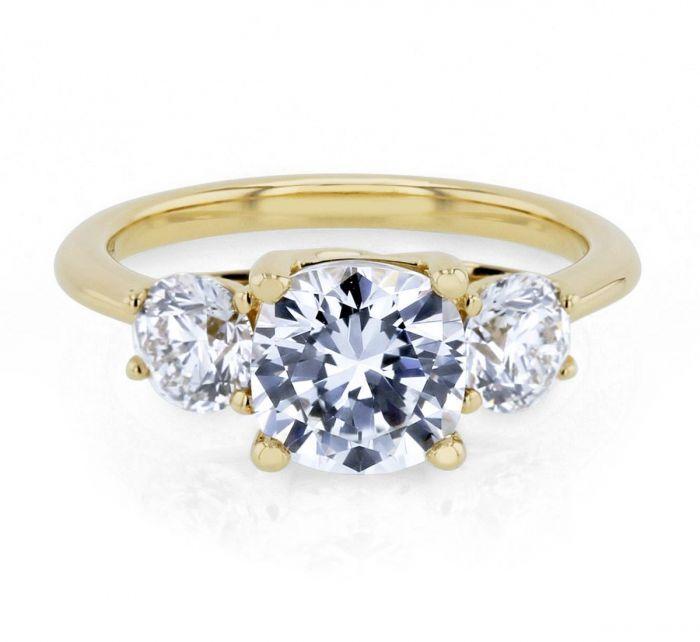 Rb Signature 14k Yellow Diamond Engagement Ring Setting 1 Cttw