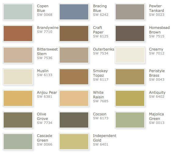 Sherwin Williams Rustic Refined Color Palette Color