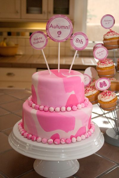 Pink Camo Adventure Printable Birthday Party