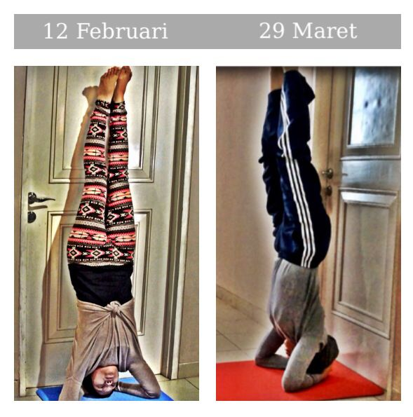progress picture of Sirsasana A #yoga #ashtanga