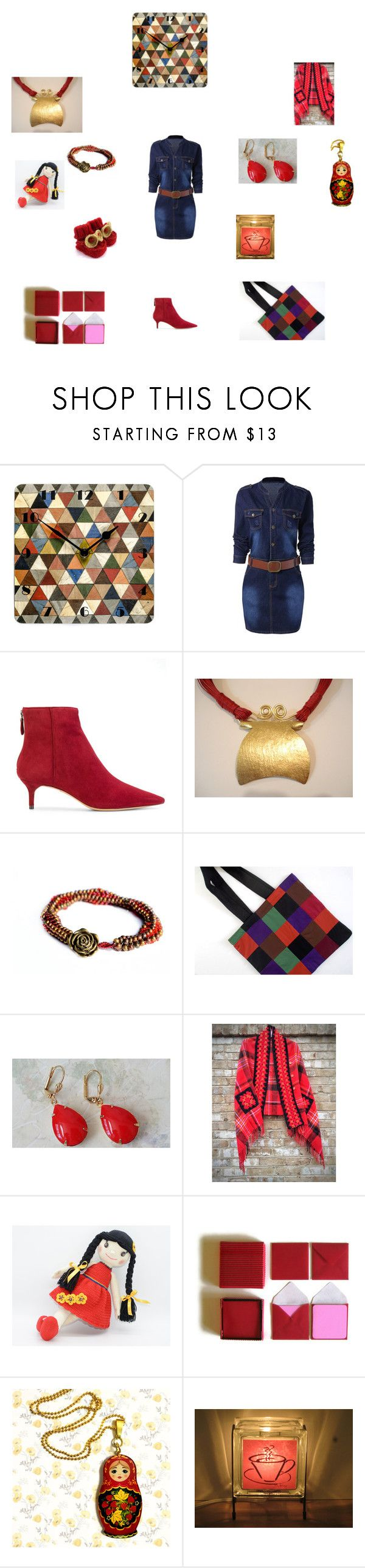 Harlequin Colours by einder on Polyvore featuring Alexandre Birman and Coffee Shop