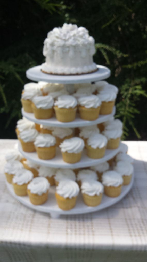 cupcake stand cupcake tower 4 tier stand shabby chic wedding wood cupcake stand round cupcake stand wedding cupcake stand