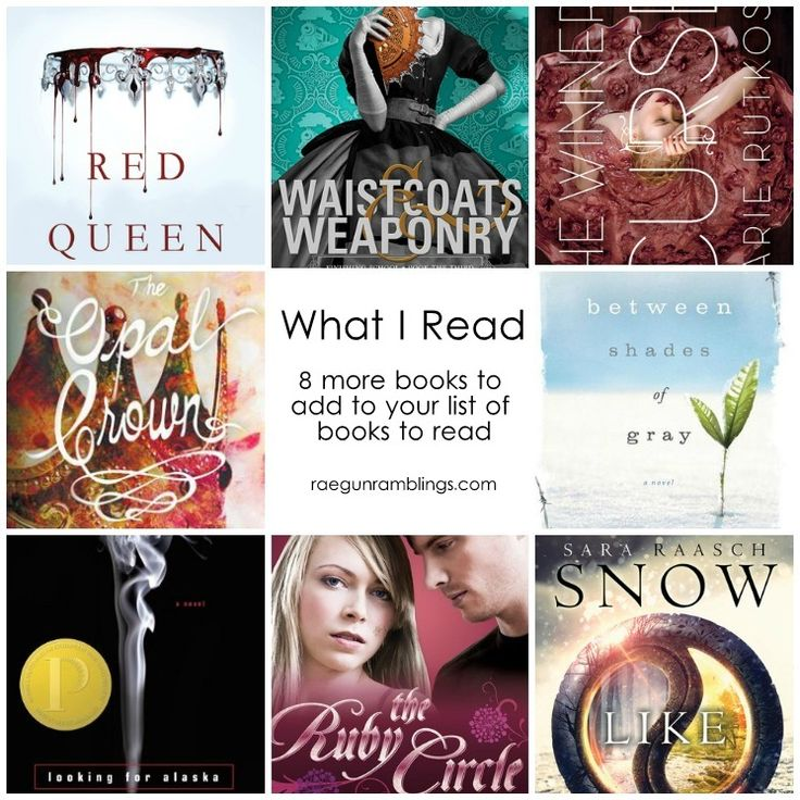 8 awesome books to add your list of books to read. Lots of good variety on this book list.