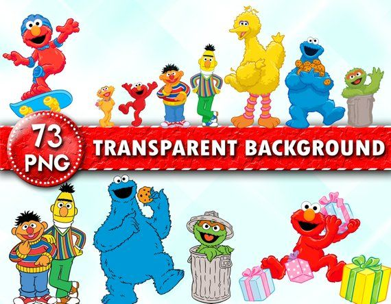 Sesame Street Clipart Sesame Street Png Files Elmo Clipart Sesame Characters Transparent Background Insta Sesame Street Make Birthday Invitations Clip Art