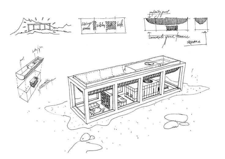 Architectural drawing of the Infinity House