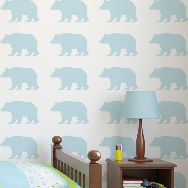 Animal Stencils - Bear Stencil - Woodland themed animal stencils for wall decorating, nursery border painting, and arts & crafts. See more at Ideal Stencils!