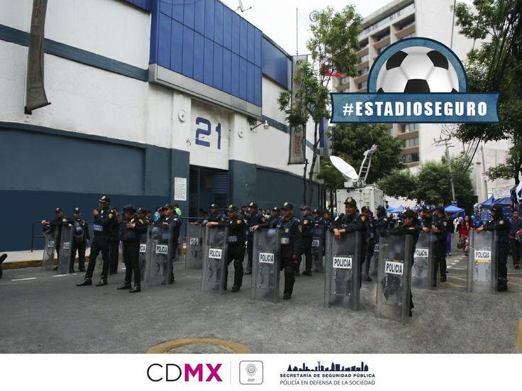 DESPLIEGA SSP-CDMX DISPOSITIVO DE SEGURIDAD PARA EL PARTIDO CRUZ AZUL- AMERICA