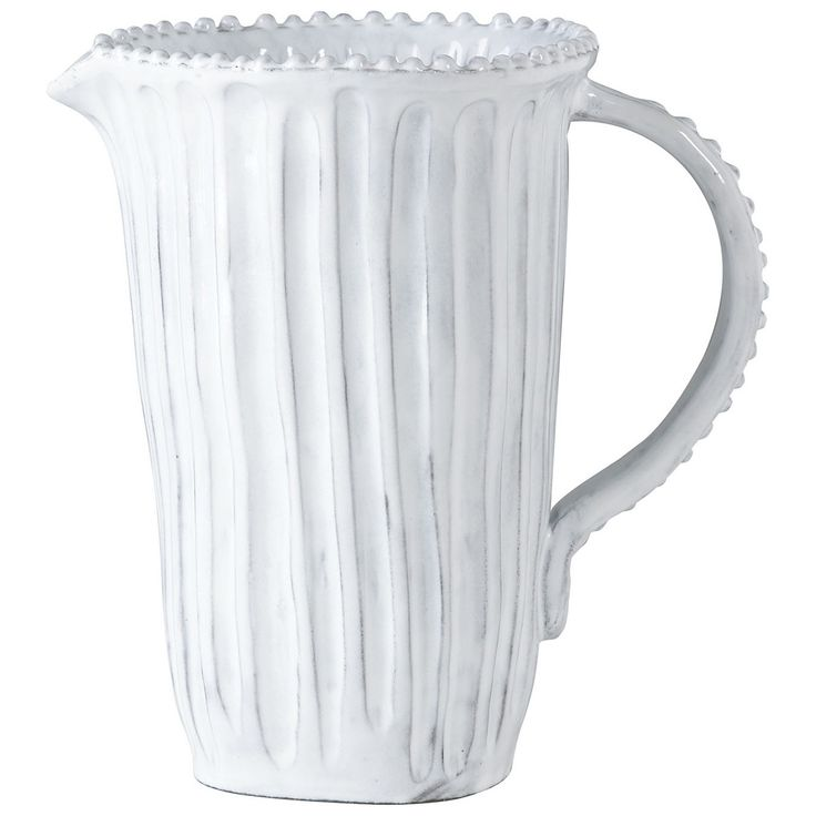 Incanto White Stripe Pitcher