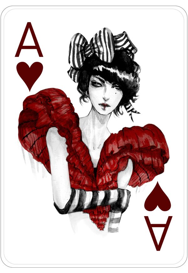 Fashion Playing Cards by Connie Lim by Connie Lim, via Behance