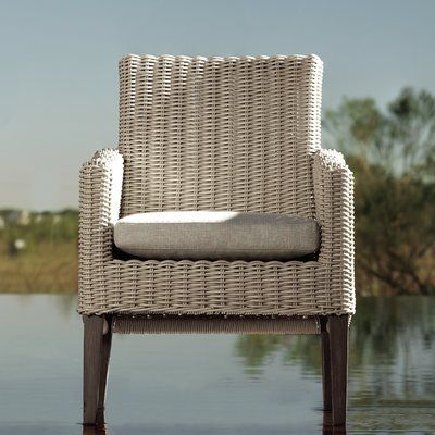 Lane Venture Requisite Dining Arm Chair with Cushion Fabric: Vesper Tamale