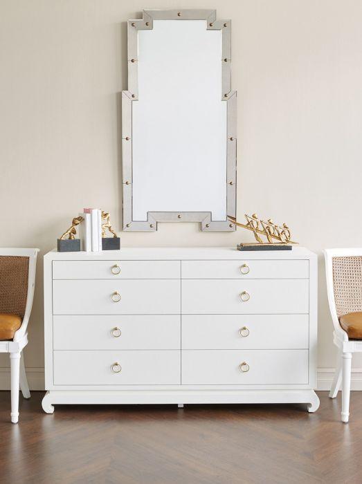 Ming Extra Large 8 Drawer White 8 Drawer Dresser Dresser