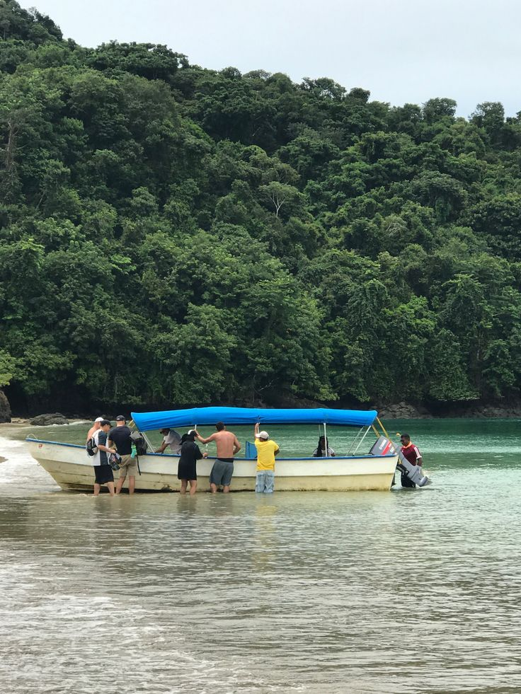 Tourists at Gambute´s Biological Station, Museum and Beach on a Tour of Coiba National Park, Veraguas, Panama