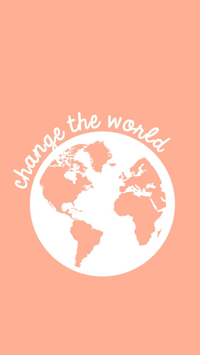 Change The World iPhone Lock Screen Wallpaper @PanPins