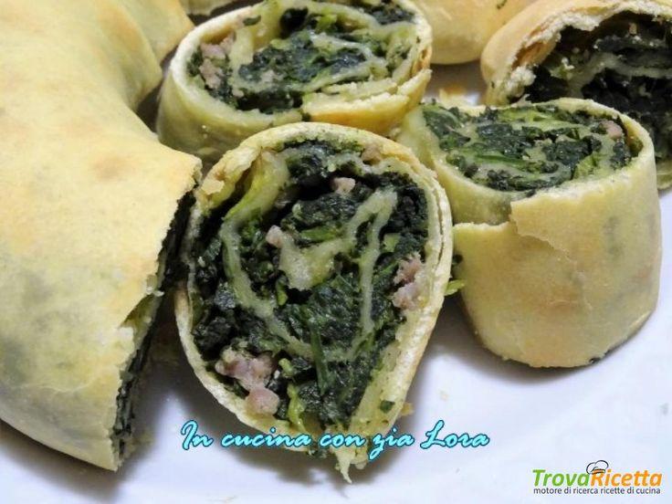Rotolo con spinaci e salsiccia ricetta umbra  #ricette #food #recipes