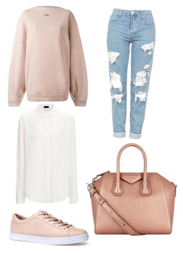 """Rose gold fever"" by shanisiavniel on Polyvore featuring mode, Off-White, Topshop, Lacoste en Givenchy"